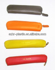 Round Shape Leather Single Pen Case