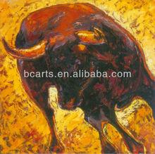 Oil Paintings of Spanish Fighting Bull