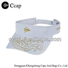 2015 Custom golden print cotton visor cap