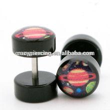 Fashion wholesale acrylic planets fake ear plug