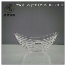 unique design glass fruit bowl,clear fuit plate antique