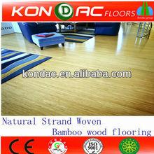 Natural Bamboo Flooring -Click Oiled E1 ISO 9001 Strand Woven Bamboo Parquet