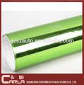 verde 3d etiquetas chrome carro película de vinil auto envoltório da folha de decoração