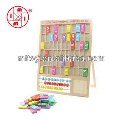 wooden multi-activity alphabet learning board