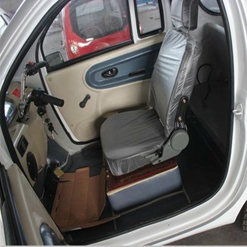 White pure mini electric car