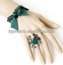 HY Jewelry fashion handmade lace ring bracelet combination