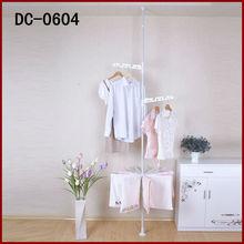 DC-0604 pole fixed corner ceiling drying rack