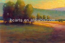 Peint à la main Nature paysage peinture à l'huile de belles peintures de prairies et arbres sur toile