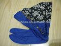 Personalizado azul superior forro flor tabi/ninja botas fabricante