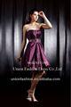 2013 блестящий без бретелек бисером фиолетовое платье вечера