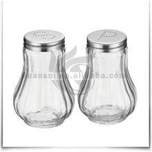 Modern Kitchen Designs 2Pcs Glass Decorative Salt And Pepper Shakers