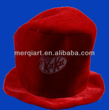Red costume hat red cat with custome logo