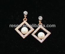 pear shaped pearl earrings latest fashion jewelry