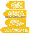 Floral de la explosión de la torta de la plantilla decoración de la torta