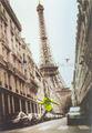 alta qualidade pintado à mão em preto e branco francês de rua de paris pintura a óleo sobre tela