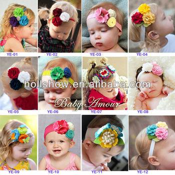 2013 New Arrival Infant Baby Flower Headband
