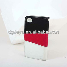 TPU leather case/cover for iphone4