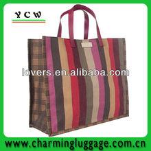 stripe ladies unique reusable shopping bags for supermarket