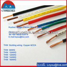 thw/tw building wire cable 8awg 10awg 12awg 14awg 16awg for American market
