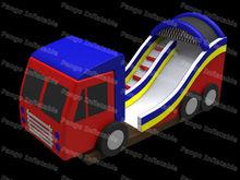 inflatable truck shape slide