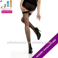 Lady nylon seamed stockings