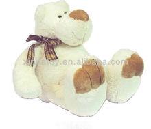 Plush big white huggy bear toy