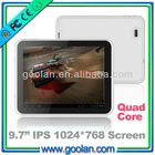 "9.7"" quad core Allwinner A31 1024*768 Capacitive screen tab tablet pc android 4.1"