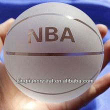 High quality 80mm crystal basketball