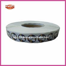 waterproof round key chains adhesive label, custom label printing