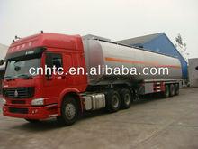 Brand New howo 3 axle 50000 Liters oil tanker semi trailer for sale