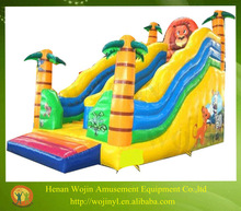 attractive inflatable lion slide/used playground slides for sale