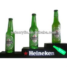 Hei-neken led acrylic lighted beer bottle holder