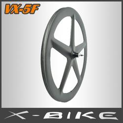Full carbon track bike aerospoke wheelset