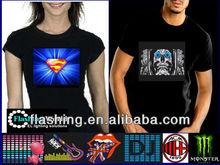 Sound active velcro led t-shirt