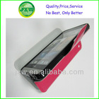 Leather cover for galaxy s4 wallet case,nice pu case for s4,red stand leather phone cover