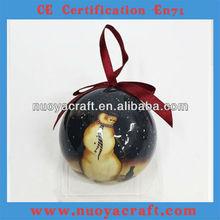 2013 hot sale printed 7cm diameter hanging ball for christmas tree