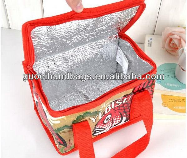 new design fashion cheap promotional food cooler bag