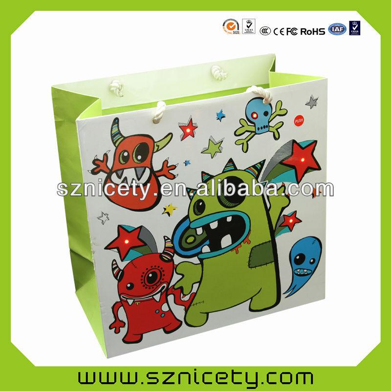 Fashional lighting gift packaging bag