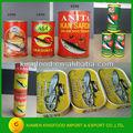 proveedor chino caliente venta de conservas de sardinas caballa en conserva en lata de atún en conserva de pescado pescados y mariscos en conserva
