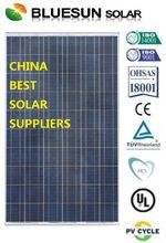 High efficiency poly 245W perfil de aluminio para el panel solar