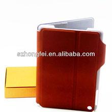 new book design leather pu /tpu cover case for iPad mini
