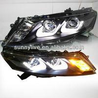 For HONDA Crosstour LED Head Lights Bi Xenon Projector Lens U Type 2010-2013 year LDV1