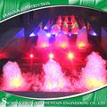 Las luces LED de colores fuente de agua