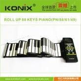 konix newest digital and electronic USB midi roll up 88 keys piano gift piano