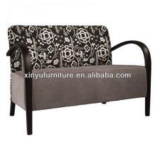 Soild wooden arm fabric 2 seater sofa XY3376