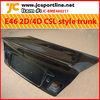 For BMW E46 2D/4D CSL style carbon fiber trunk cover