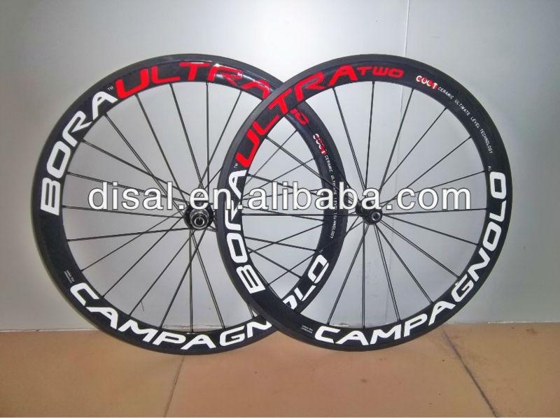 Campagnolo Bora Ultra Two T-50mm tubular bike wheelset 700c carbon fiber road racing bicycle whe ...