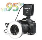 Apture CRI 95 Halo ring flash with 100 led bulbs for macro shooting Photographic Lighting