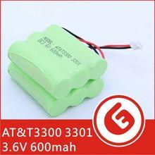 AT&T GREEN Phone Model 3300/3301 3.6V 600mAh Battery Pack