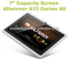 Wholesale best 7 inch Tablet PC Android Driver Allwinner A13 cortex-a8 Dual Camera 1.25Ghz 4GB Capacitive 5-point(MID-A701)